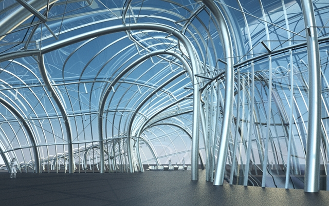 arc architectural freeform structures from single curved